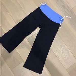 Lululemon crop leggings with adjustable ba…